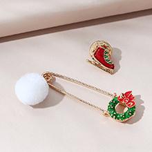 圣诞系列创意百搭流行爆款圣诞花环胸针套装