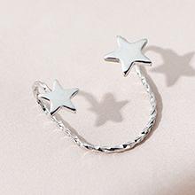 欧美时尚百搭夸张个性小星星单边耳环