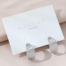 欧美镀真金流行创意个性百搭时尚S925银针(白金)