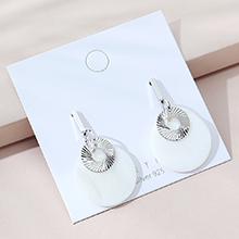韩版镀真金时尚创意流行复古民族风亚克力板材S925银针(白金)