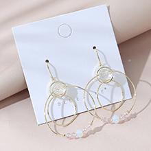 韩版镀真金气质百搭大牌流行ins潮创意水晶玻璃镂空耳环