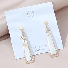 韩版镀真金创意时尚风靡ins潮爆款流行S925银针