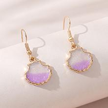 欧美创意简约百搭时尚流行耳环(紫色)