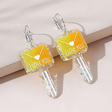 韩版时尚创意小清新百搭钥匙耳环