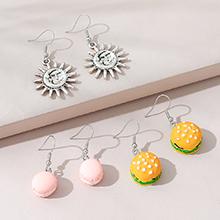 欧美创意百搭时尚可爱甜美小清新耳环套装