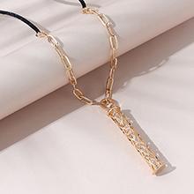 欧美镀真金时尚百搭创意气质流行时光轮锆石毛衣链