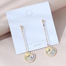 韩版镀真金时尚百搭个性流行气质水晶S925银针