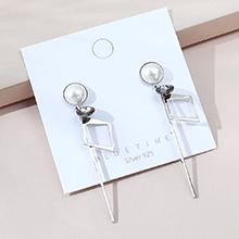 韩版镀真金复古百搭时尚创意ins潮水晶珍珠S925银针