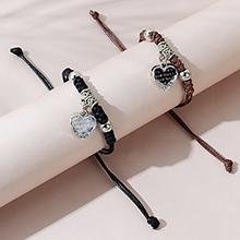 韩版时尚百搭创意流行桃心情侣手链套装