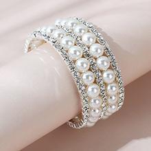 韩版复古时尚民族风流行创意珍珠手镯