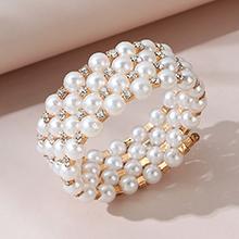 韩版大气时尚百搭气质大牌珍珠手镯