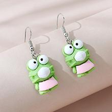 韩版甜美百搭小清新简约口罩青蛙耳环