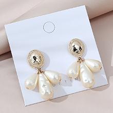 欧美法式复古百搭流行民族风珍珠耳环