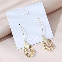 韩版镀真金百搭创意夸张个性水晶耳环