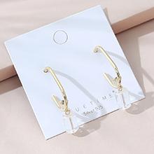 欧美镀真金百搭气质流行小仙女创意水晶玻璃S925银针