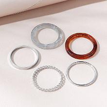 欧美创意百搭ins气质流行树脂戒指套装