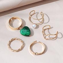 韩版创意复古时尚气质大牌珍珠戒指套装