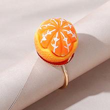 韩版创意百搭小清新甜美小橙子戒指(黄色)