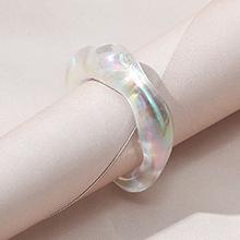 韩版创意简约小清新百搭ins潮树脂戒指(白色)