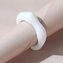 韩版创意简约小清新百搭ins潮树脂戒指(乳白色)