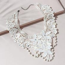 欧美法式性感百搭流行风靡珍珠蕾丝项链