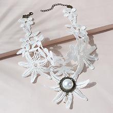 韩版ins潮风靡流行大牌气质性感复古珍珠蕾丝项链