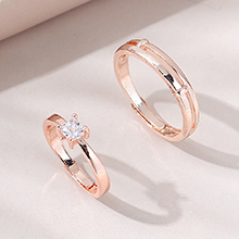 欧美法式时尚百搭ins潮至爱情侣戒指