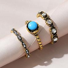 韩版民族风百搭创意复古戒指套装