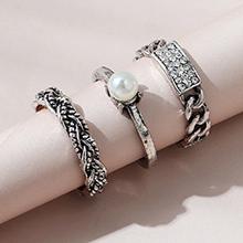 韩版复古创意个性百搭民族风戒指套装