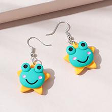欧美简约小清新可爱小青蛙耳环