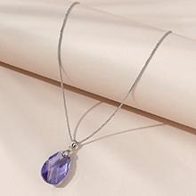 奥地利水晶项链--水滴泪(藕荷紫)