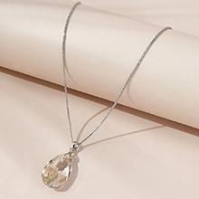 奥地利水晶项链--水滴泪(银色魅影)