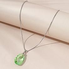 奥地利水晶项链--水滴泪(橄榄)