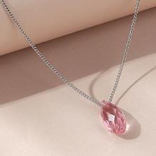 奥地利水晶项链--逝水年华(浅玫红)