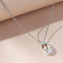 奥地利水晶项链--逝水年华(彩白)