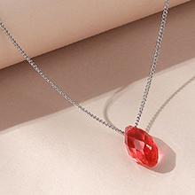 奥地利水晶项链--逝水年华(水莲红)