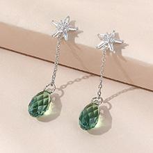 奥地利水晶耳环--逝水年华(翠绿)