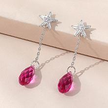 奥地利水晶耳环--逝水年华(紫红)