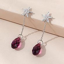 奥地利水晶耳环--逝水年华(紫色)