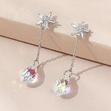 奥地利水晶耳环--逝水年华(彩白)