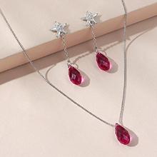 奥地利水晶套装--逝水年华(紫红)