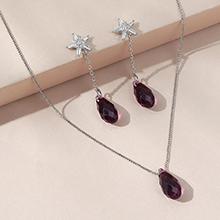 奥地利水晶套装--逝水年华(紫色)