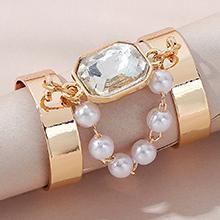 欧美时尚创意复古气质大牌珍珠戒指(白色)