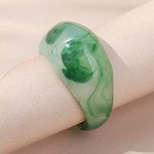 欧美大气大牌ins潮创意树脂戒指(绿色)