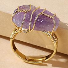 欧美创意百搭流行个性戒指(紫色)