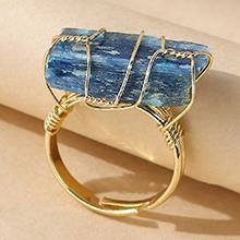 欧美百搭创意时尚个性天然石戒指