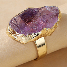 韩版创意百搭流行气质戒指(紫色)