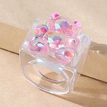 韩版小清新百搭创意粉红小熊戒指