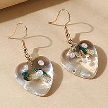韩版创意百搭流行ins潮树脂珍珠耳环(白色)