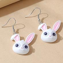 韩版创意流行ins潮小清新小兔头耳环